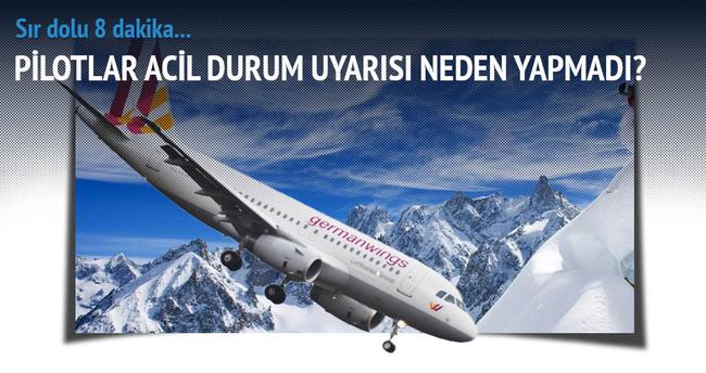 Germanwings uçağındaki sır 8 dakika