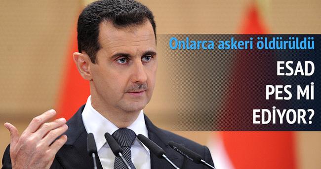 Esad'ın onlarca askeri öldürüldü