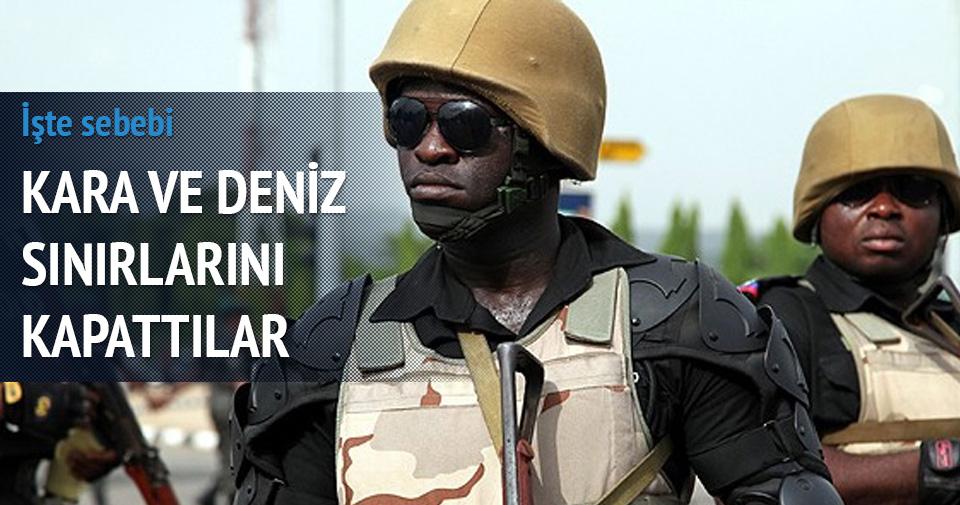 Nijerya kara ve deniz sınırlarını kapattı
