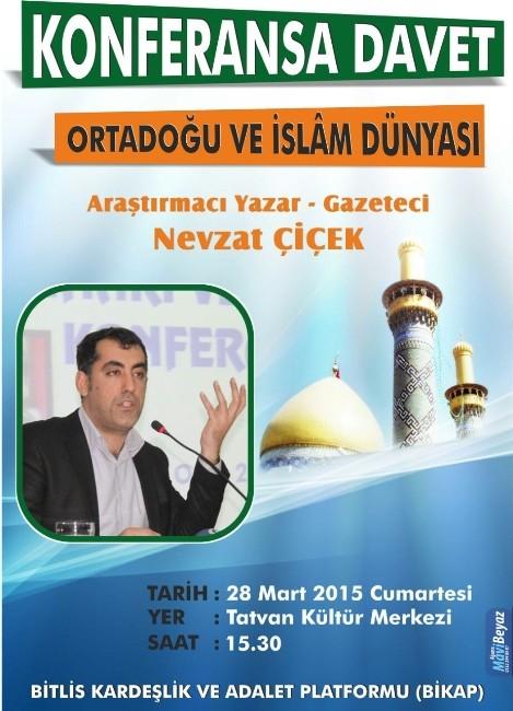 """Bikap, """"Ortadoğu Ve İslam Dünyası"""" Konferansı Düzenleyecek"""