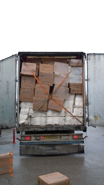 Erzincan'da 81 Bin 500 Paket Kaçak Sigara Ele Geçirildi