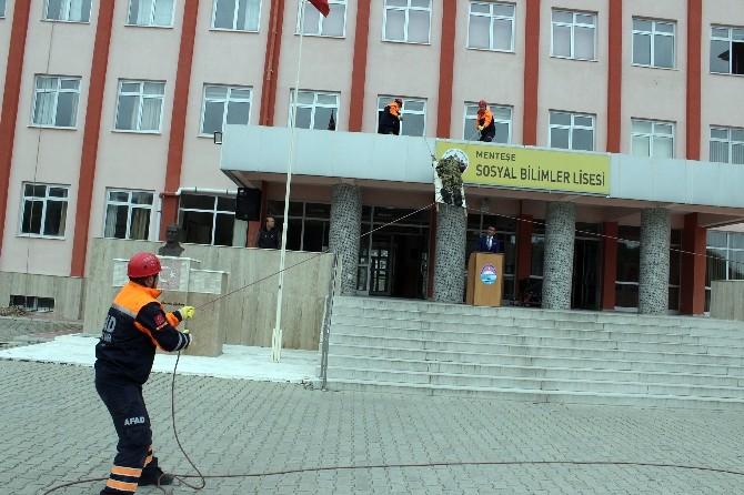 Muğla'da Deprem Tatbikatı