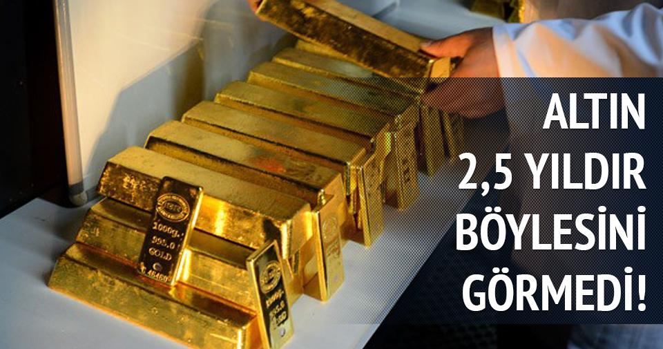 Altın fiyatı 2,5 yılın en yükseğinde