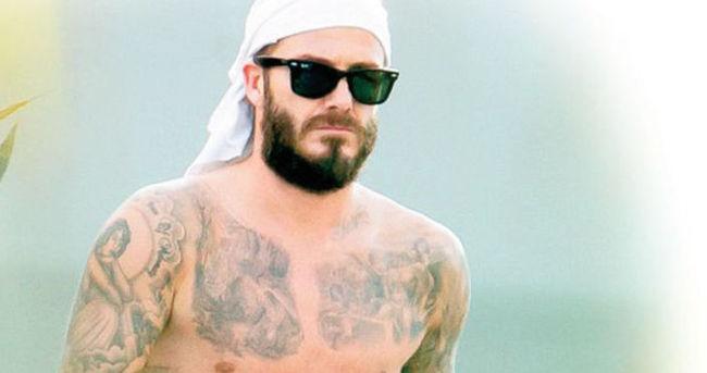 David Beckham'dan vücut şov