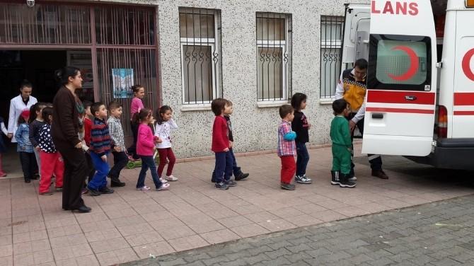 Rize'de Minik Öğrenciler 112 Eğitimi Aldı
