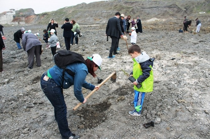 Tekirdağ'da 200 Fidan Toprakla Buluştu