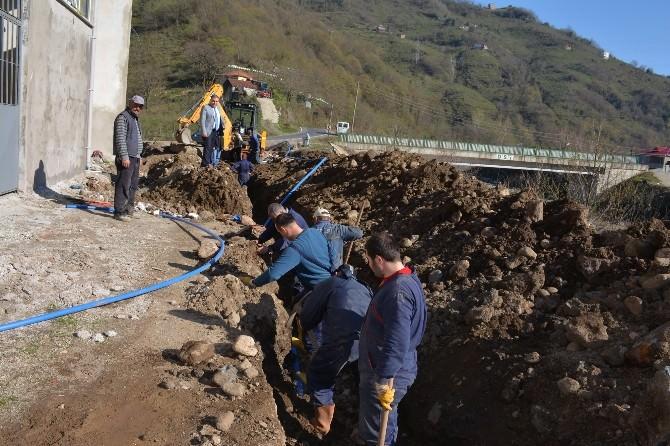 Görele Belediyesi Sanayi Sitesin De Alt Yapı Çalışmalarına Başladı