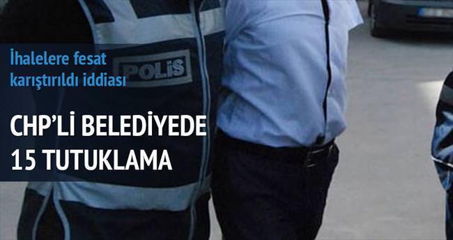 İhale yolsuzluğunda 15 tutuklama