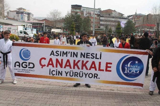 Anadolu Gençlik Derneği 'Çanakkale Ümmet Yürüyüşü' Düzenledi
