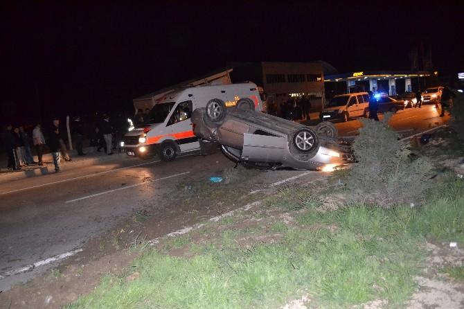Otomobil Takla Attı: İki Yaralı