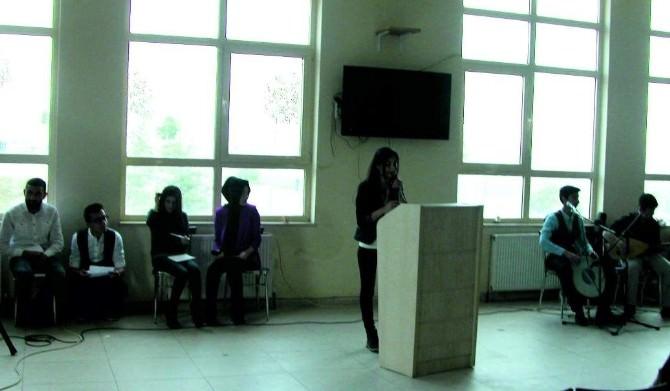 Kahta Meslek Yüksek Okulu'nda Şiir Dinletisi