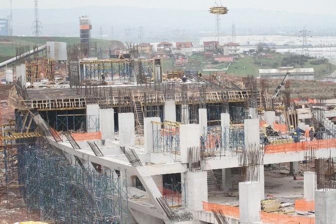 (Özel Haber) Kocaeli Stadyumu Hızla Yükseliyor