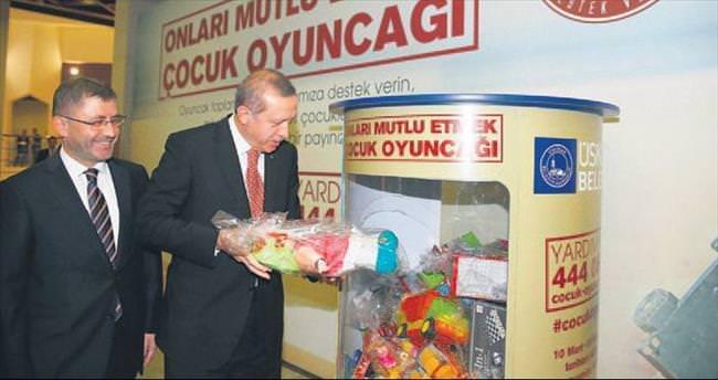 Erdoğan'dan oyuncak kampanyasına destek