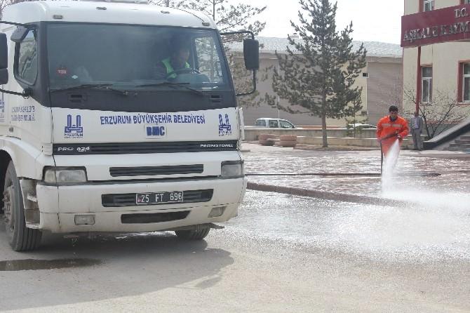 Erzurum Büyükşehir Belediyesi'nden Bahar Temizliği