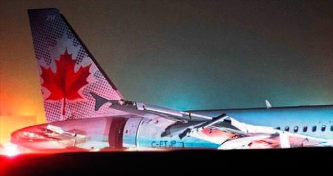 Aynı tip uçak bu kez de Kanada'da pistten çıktı