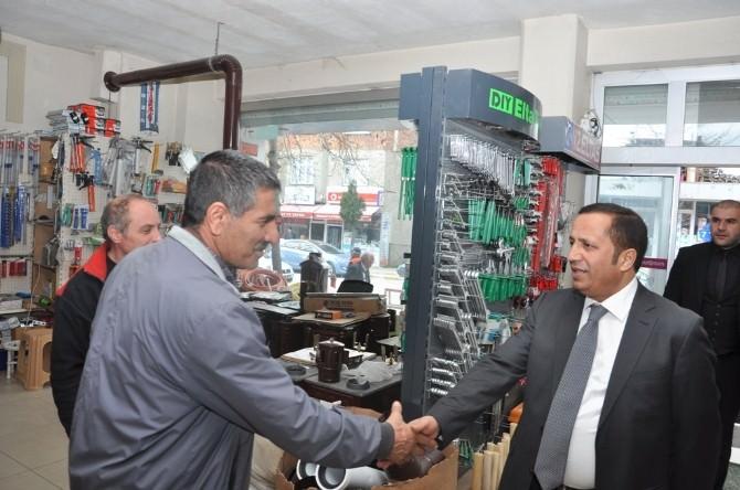 Başkan Toltar, Esnafı Ziyaret Etti