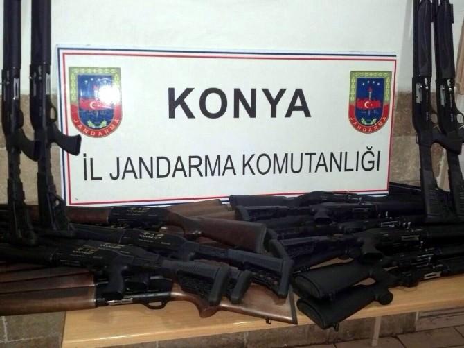 Kargo Araçlarında Usulsüz Üretim Tüfek Ele Geçirildi