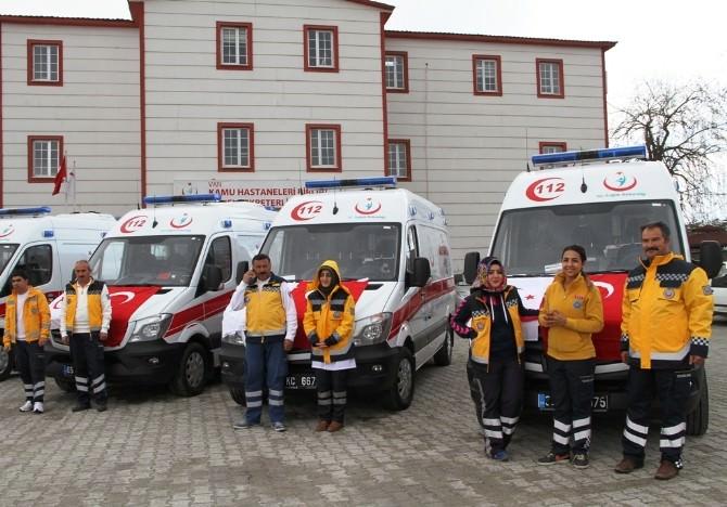 Van'a 11 Yeni Ambulans