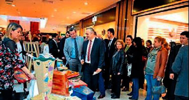 TRSM hastaları eserlerini sergiledi