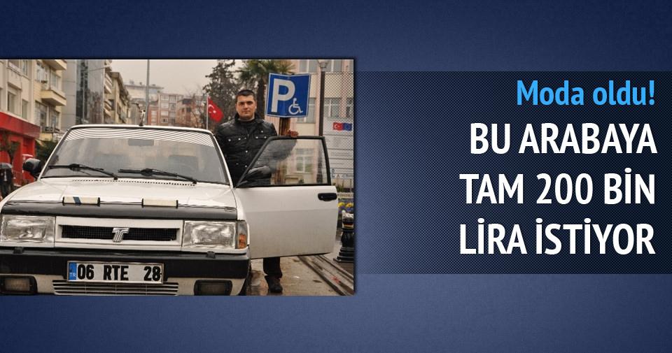 Plakaya dikkat: 200 bin lira istiyor