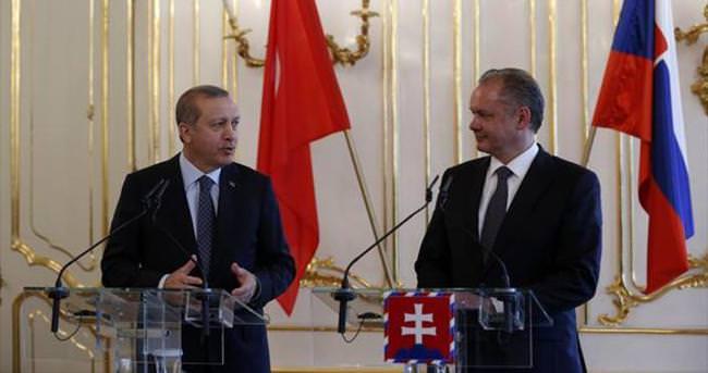 Cumhurbaşkanı Erdoğan Slovakya'da