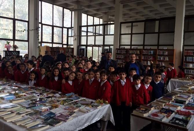 İlköğretim Okulu Öğrencilerinden Halk Kütüphanesine Ziyaret