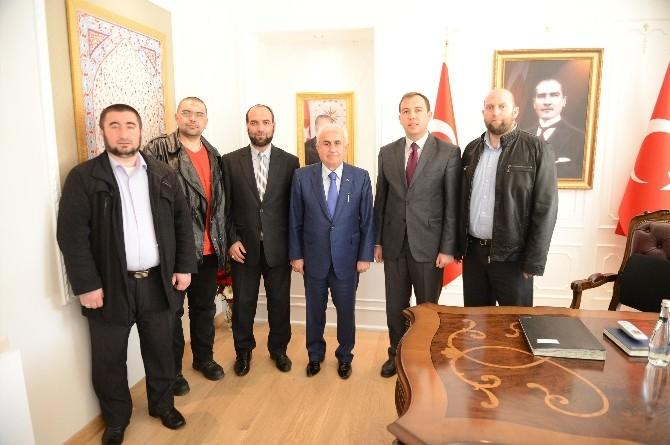 Blagnevgrad Bölge Müftüsü Muhammed, Edirne Valisi Şahin'i Ziyaret Etti