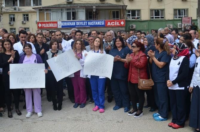 Kırıkhan'da Doktora Saldırıya Kınama