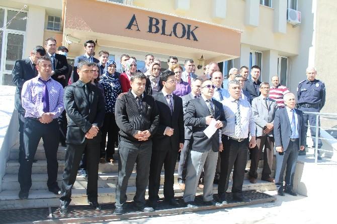 Karaman'da Adliye Çalışanlarından Protesto