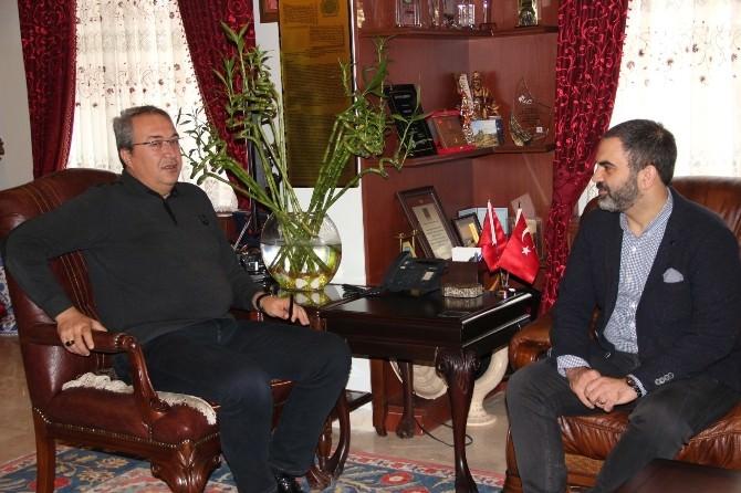 Kaptid'in Yeni Yöneticileri, Belediye Başkanı Ünver'i Ziyaret Etti