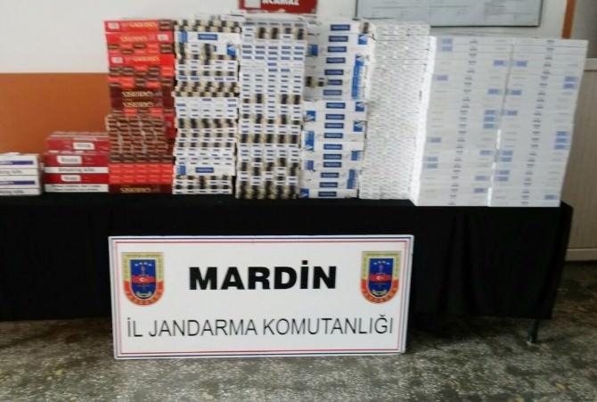 Mardin'de 12 Bin 930 Paket Kaçak Sigara Yakalandı