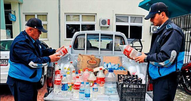 Tarsus'ta kaçak içki zabıtaya takıldı