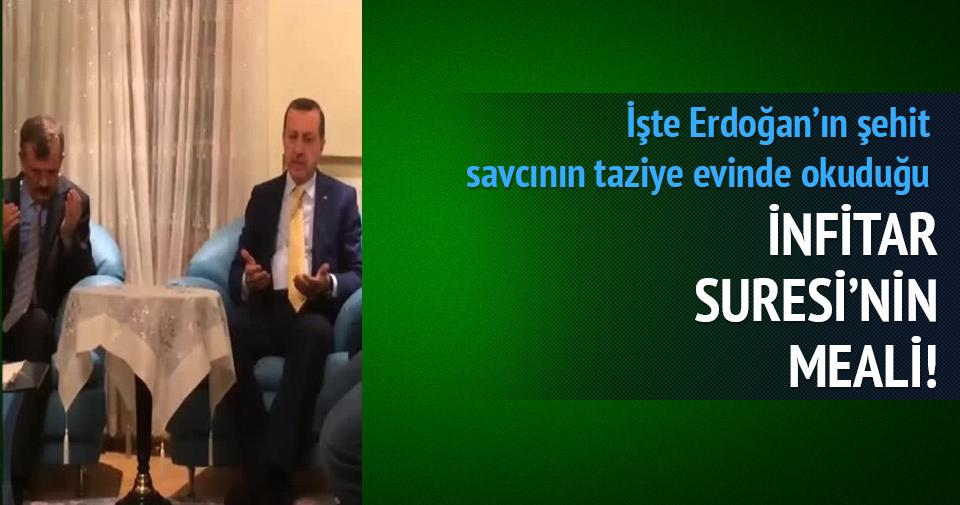 Erdoğan'ın okuduğu İnfitar Suresi'nin meali