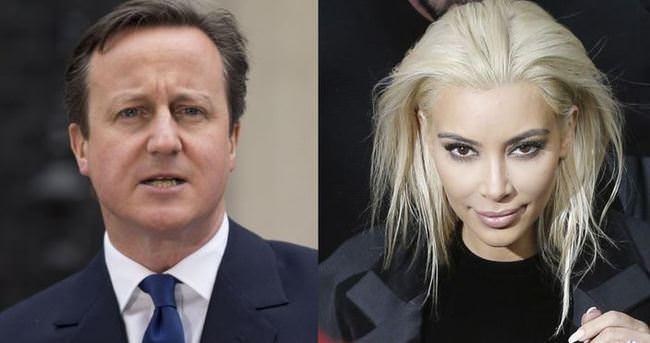 David Cameron: Kim Kardashian'la kuzeniz
