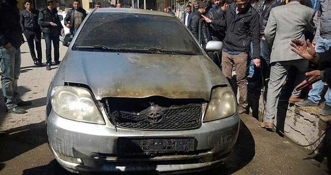 Yüksekova'da 1 otomobil ateşe verildi