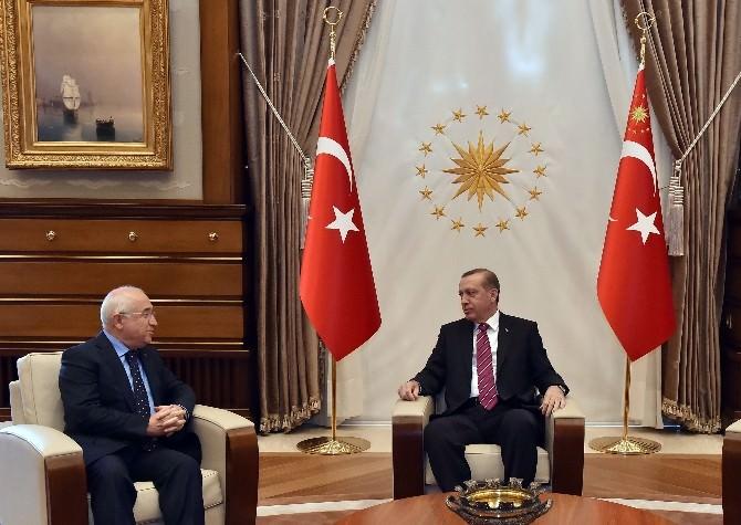 Cumhurbaşkanı Erdoğan, TBMM Başkanı Çiçek'i Kabul Etti
