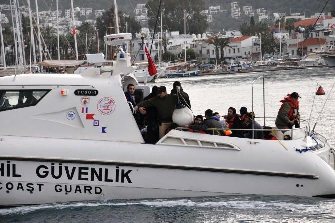 Muğla Açıklarında 35 Kaçak Göçmen Yakalandı