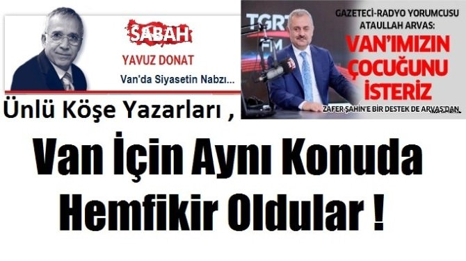 Usta Gazetecilerden AK Partili Şahin'e Destek