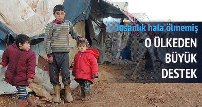 Güney Kore'den Suriyelilere yardım