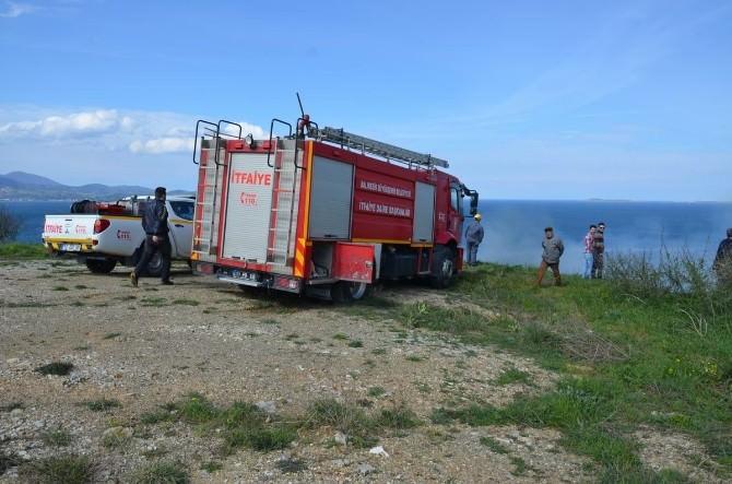 Bandırma'da Arazi Yangını Korkuttu