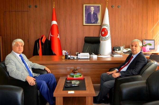 Başkan Toyran'dan Başsavcı Yıldırım Özgür'e Başsağlığı Ziyareti