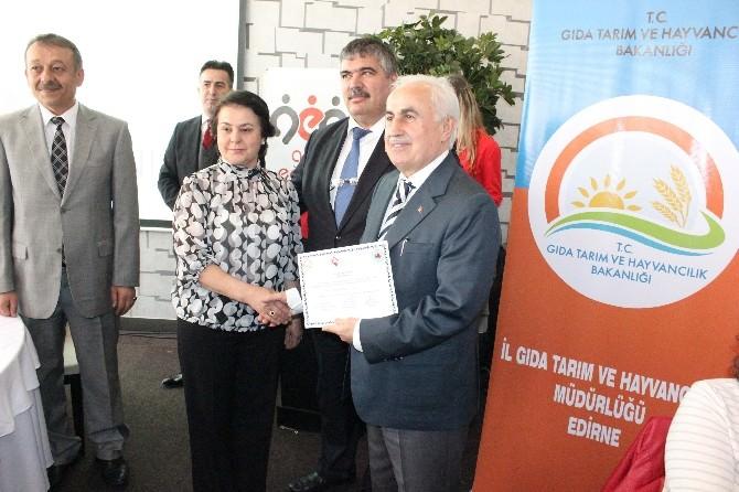 Edirne'de Kadın Çiftçiler Sertifikalandı