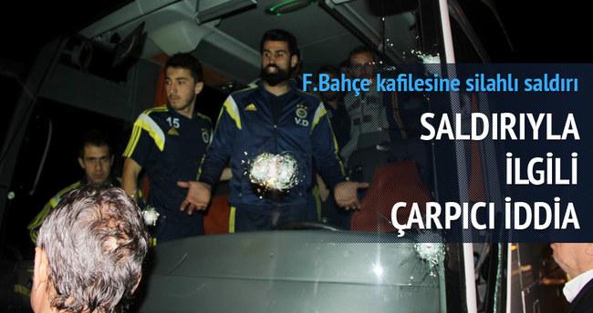 Fenerbahçe otobüsüne pompalı tüfekle saldırı! İşte o görüntüler!