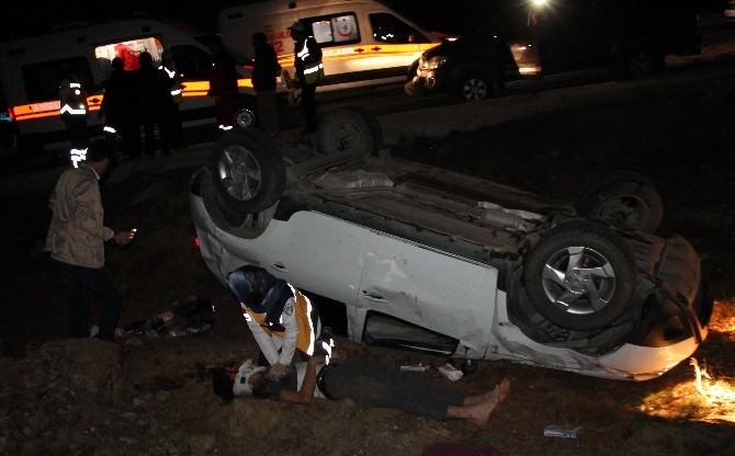 17 Yaşındaki Liselinin Kullandığı Araç Takla Attı: 5 Yaralı