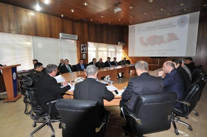 Kütahya'da 'Seçim Güvenliği' Toplantısı