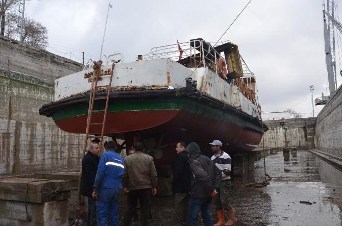 Atıl Durumdaki Gezi Teknesi Onarıma Alındı