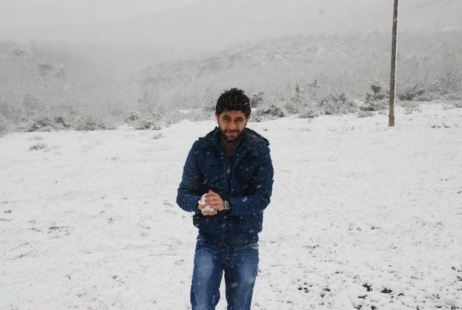 Tokat'ta Nisan Ayında Kar Yağışı
