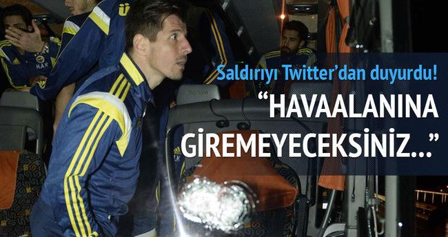 Fenerbahçe'ye saldırıyı sosyal medyadan duyurdu