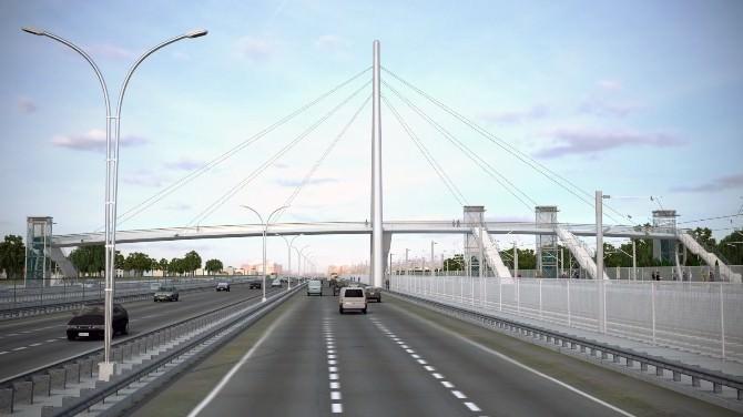 Valilik Kampüsü Önüne Modern Yaya Köprüsü