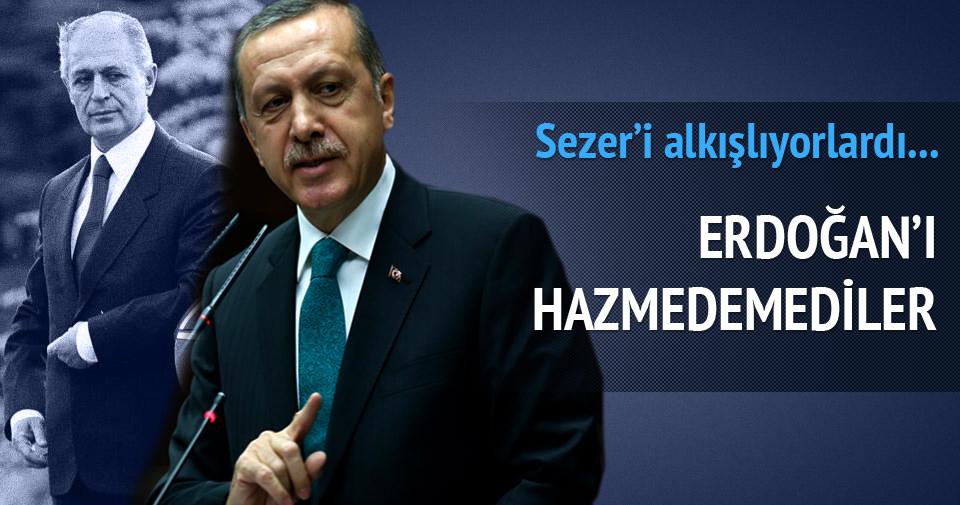 Sezer'i alkışlayanlar Erdoğan'ı hazmedemedi